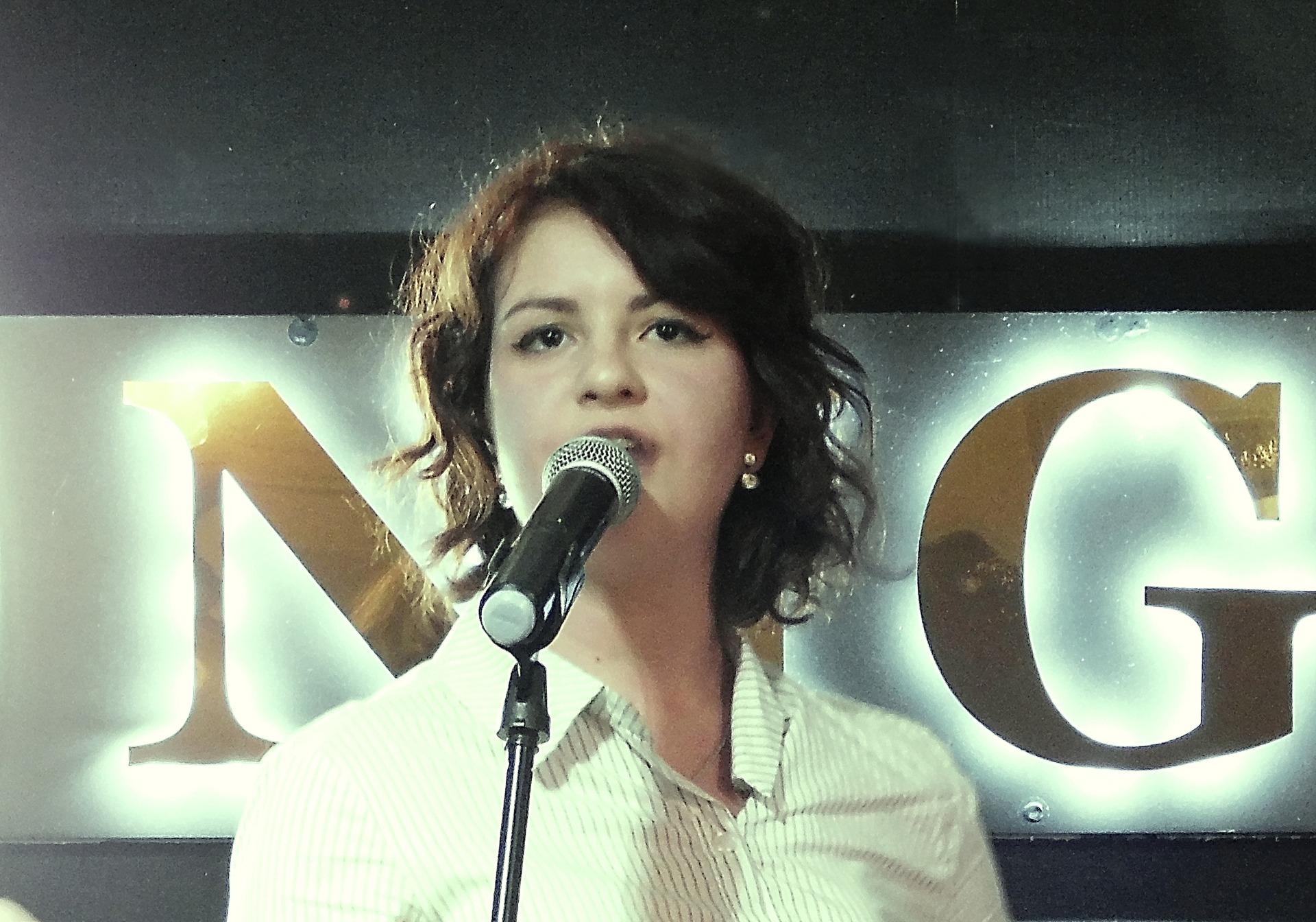 Дарья Самойлова на творческом вечере Фила Гинзбурга