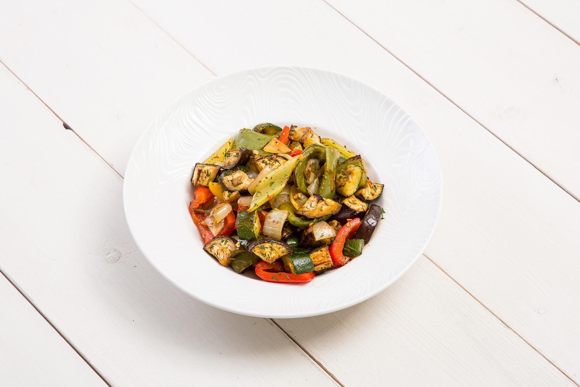 Запеченные овощи с кунжутным ароматом