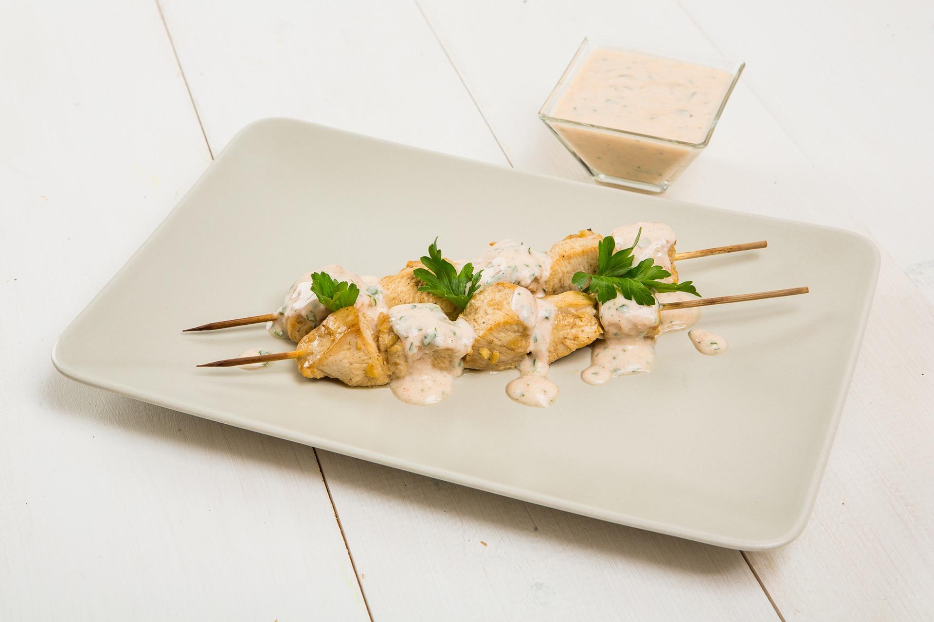 Куриные шашлычки с пряным йогуртом