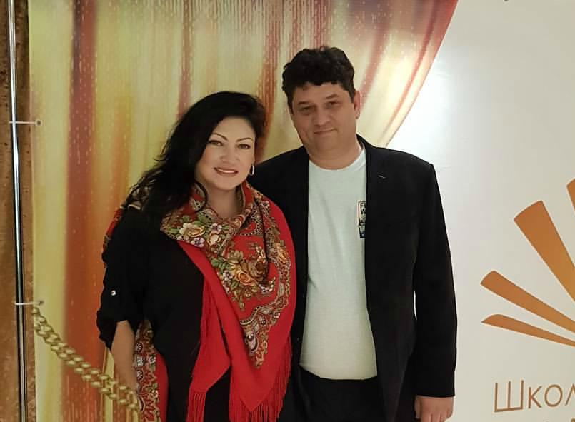 Юрий Алексеев с женой