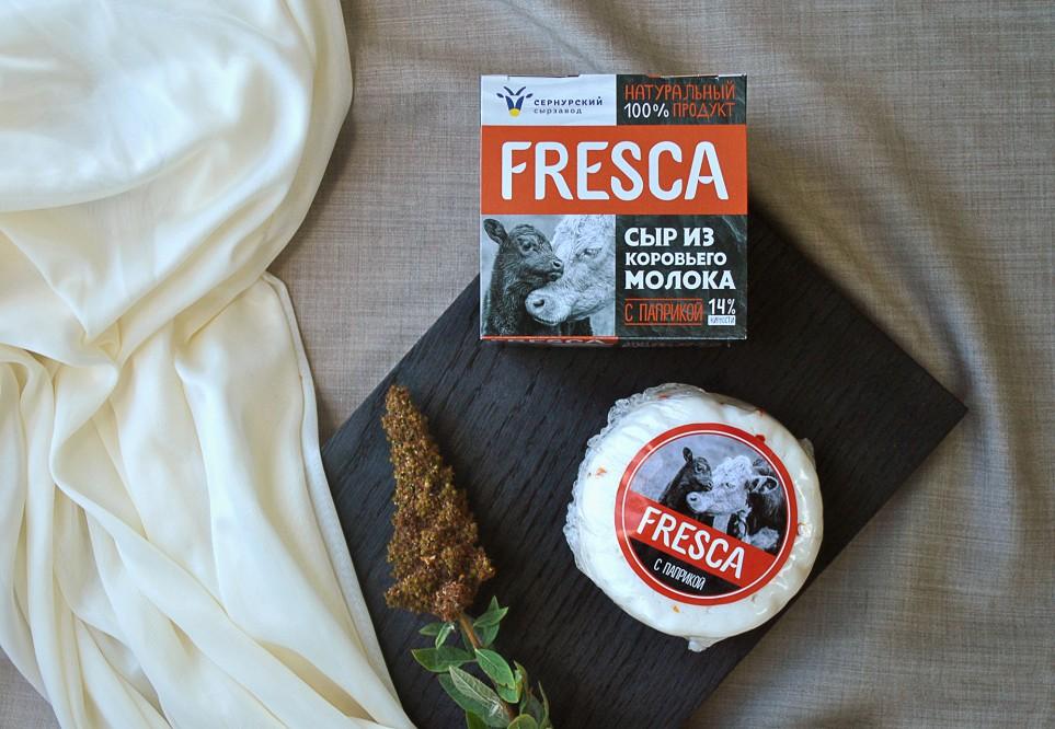 """Сыр """"Фреска"""" из коровьего молока 30% с паприкой"""